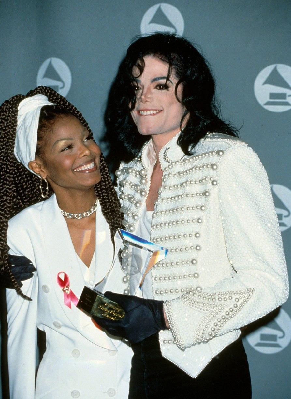 Майкл и Джанет Джексоны на Грэмми в 1993 году